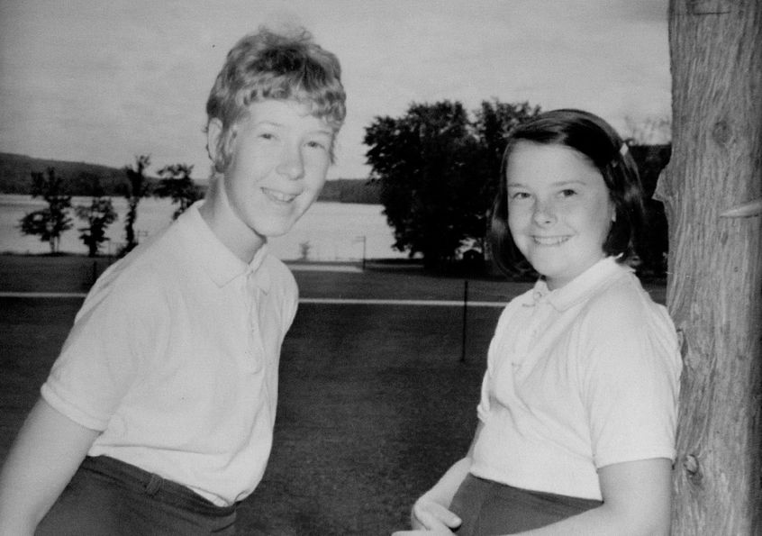 Patty Lifter (Right) at camp, 1970