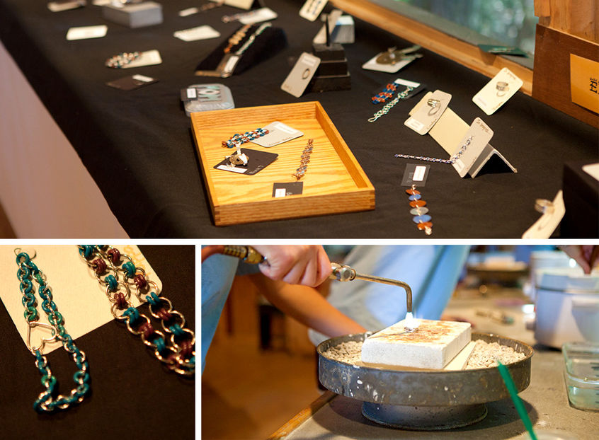Campers get a hands on experience, melting and molding custom rings, bracelets, necklaces & more