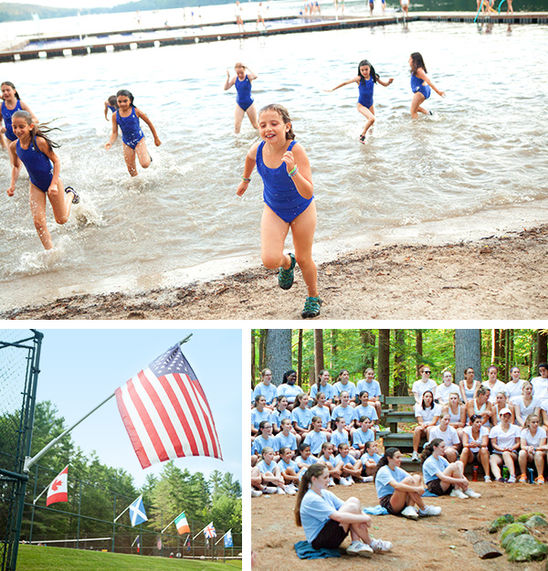 Along with the 4th of July, other special events include Beach Days (top), and the Annual Sing (bottom right).