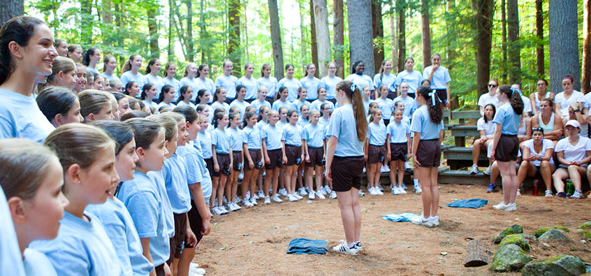 One of the highlights every summer is the all-camp sing competition between the Brown and Blue teams. During this event, each team writes original songs: One for Pinecliffe, One for their Team, and a fight song.
