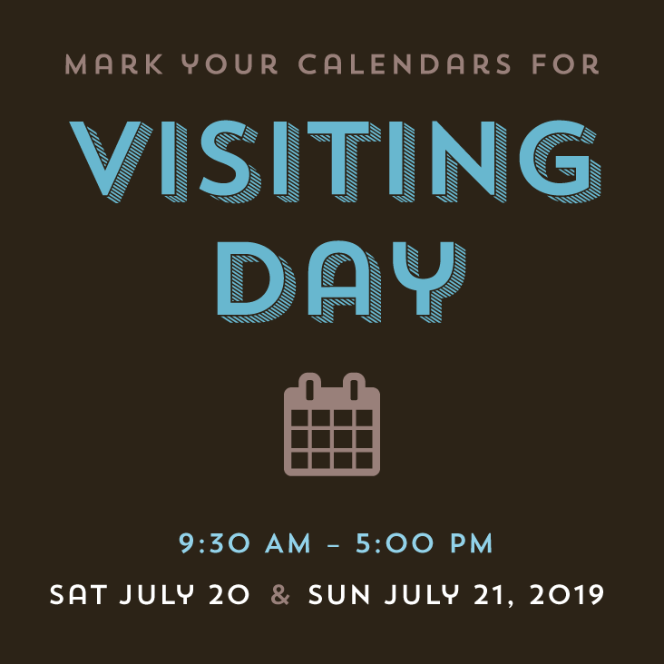 Mark you calendars for visiting day